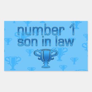 Number 1 Son in Law Rectangular Sticker