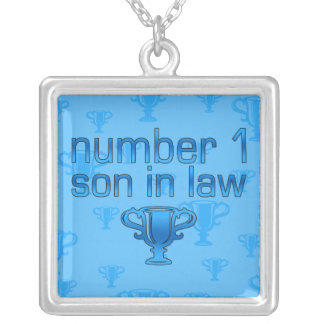 Number 1 Son in Law Square Pendant Necklace