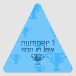 Number 1 Son in Law Triangle Sticker