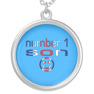 Number 1 Son ( Son's Birthday ) Round Pendant Necklace