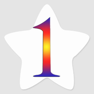 Number 1 star stickers