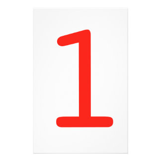 Number 1 stationery