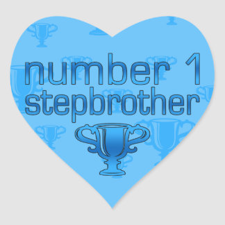 Number 1 Stepbrother Heart Sticker