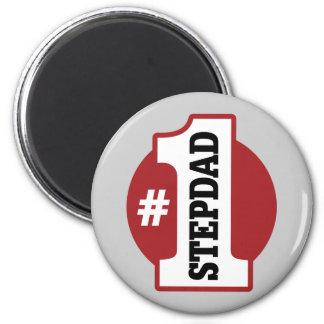 Number 1 Stepdad 2 Inch Round Magnet