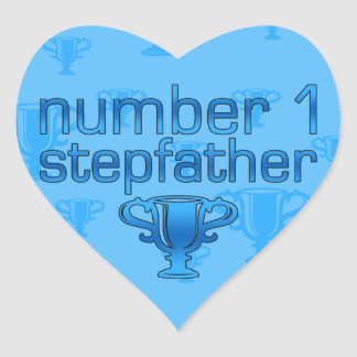 Number 1 Stepfather Heart Sticker