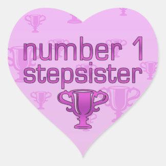 Number 1 Stepsister Heart Sticker