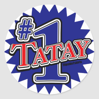 Number 1 Tatay Classic Round Sticker