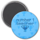 Number 1 Teacher in Blue Magnets