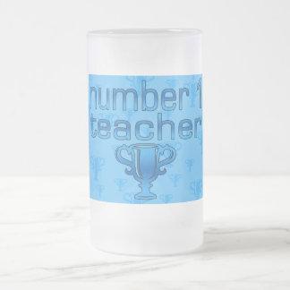 Number 1 Teacher in Blue Coffee Mugs