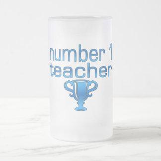 Number 1 Teacher in Blue Mugs