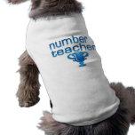 Number 1 Teacher in Blue Pet Tee Shirt