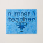 Number 1 Teacher in Blue Puzzle