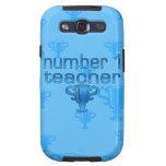 Number 1 Teacher in Blue Samsung Galaxy SIII Cases