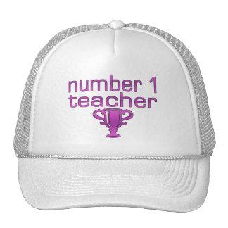 Number 1 Teacher in Pink Hat