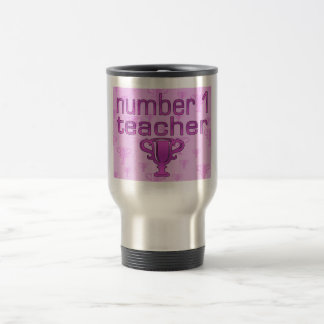 Number 1 Teacher in Pink Coffee Mugs
