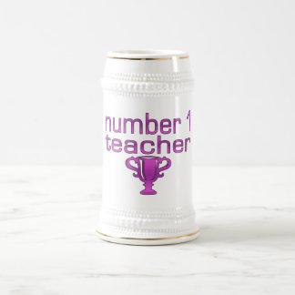 Number 1 Teacher in Pink Mugs