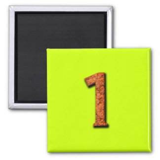 Number 1 Teaching or Memory Aid Magnet