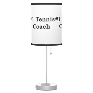 Number 1 Tennis Coach Table Lamps