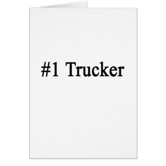Number 1 Trucker Stationery Note Card