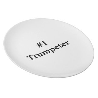 Number 1 Trumpeter Plate