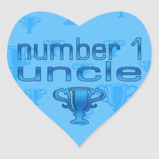 Number 1 Uncle Heart Sticker