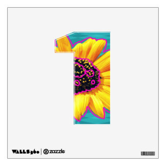 Number 1 Wall Decal in Sunny Sunflower -