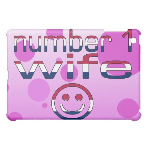 Number 1 Wife in American Flag Colors iPad Mini Cases
