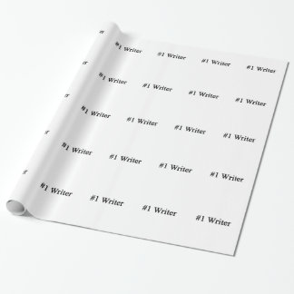 Number 1 Writer Wrapping Paper