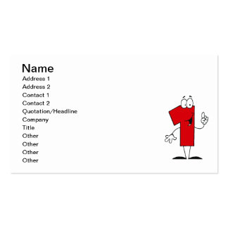 Number 1st Birthday T shirts and Gifts Business Card