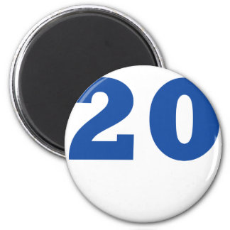 Number 20! 2 inch round magnet