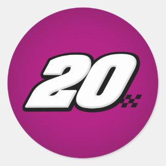 Number 20 - Sticker
