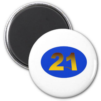 Number 21 2 inch round magnet