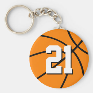 Number 21 basketball keychain | Customizable