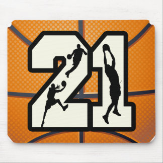 Number 21 Basketball Mousepads