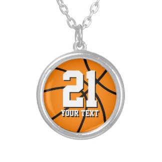 Number 21 basketball necklace | Personalizable
