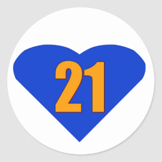 Number 21 stickers