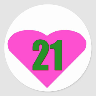 Number 21 sticker