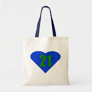Number 21 tote bag
