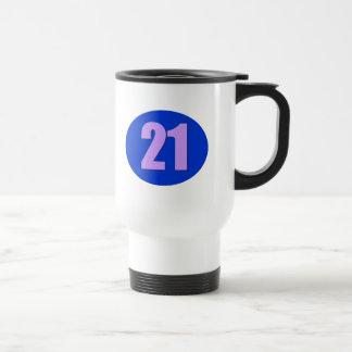 Number 21 travel mug