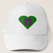 Number 21 trucker hat