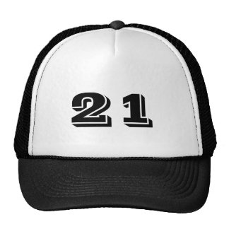 Number 21 trucker hat