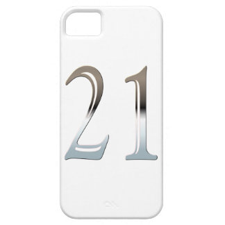 Number 21 Years Old Birthday Chrome Look iPhone SE/5/5s Case