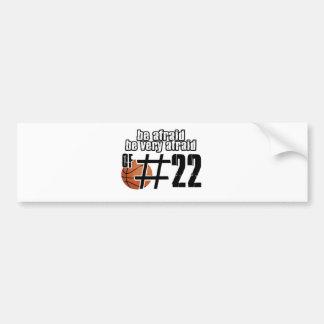 Number 22 Basketball designs Bumper Sticker