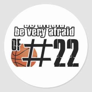 Number 22 Basketball designs Classic Round Sticker