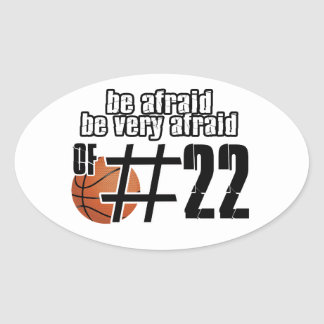 Number 22 Basketball designs Oval Sticker