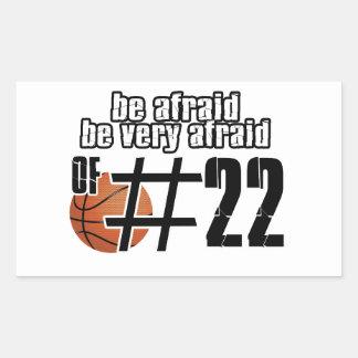 Number 22 Basketball designs Rectangular Sticker