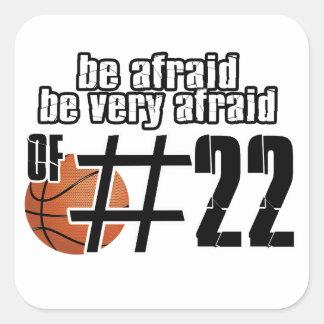Number 22 Basketball designs Square Sticker