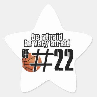 Number 22 Basketball designs Star Sticker