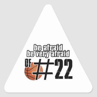 Number 22 Basketball designs Triangle Sticker