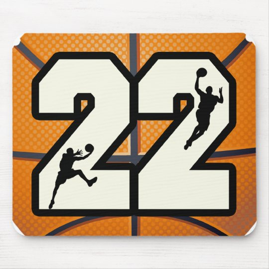 Number 22 Basketball Mouse Pad